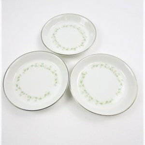 3 small china patterned coasters By Sheffield-